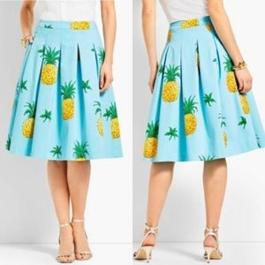 New RSVP by Talbots Skirt 8 Pineapple Pleated